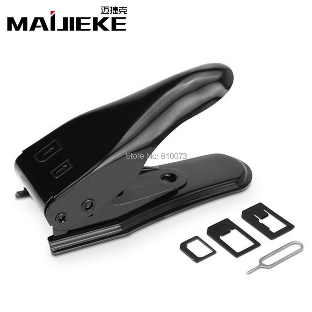 MAIJIEKE 2 in 1 multi-function stainless steel SIM card cutter for iPhone SIM/Micro/Nano Smart