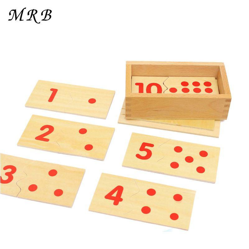 Bébé jouets Montessori enseignement des mathématiques mathématiques numéro bois conseil Puzzle Montessori éducatif en bois jouets enfants cadeau