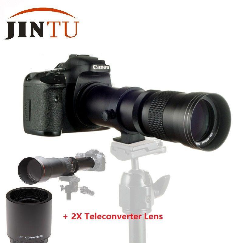 JINTU 420-1600mm F/8,3-16 Tele Zoom 2X Telekonverter OBJEKTIV für Sony NEX3 NEX5 NEX6 NEX7 A3000 A5000 A6000 A6300 A6500 Kamera