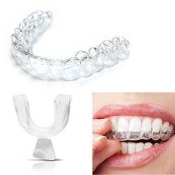 Nueva 4 unids noche silicona protector de boca para dientes apretando molienda dental bite ayuda para dormir blanqueamiento bandeja de la boca
