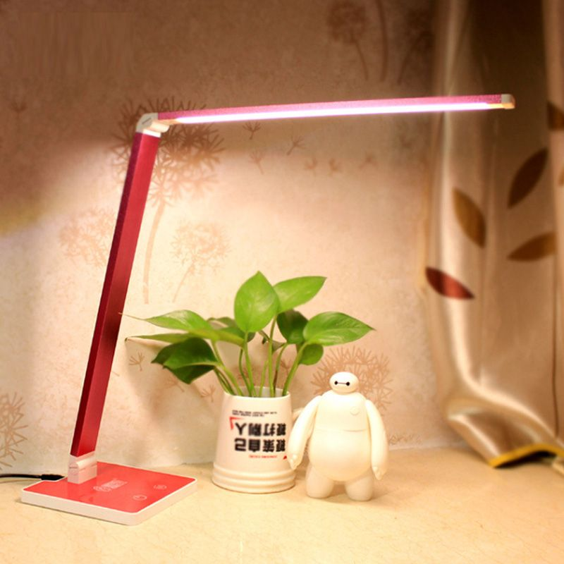 Five Touch Dimmer USB Desk Lamps Study Reading lampe led Aluminum Modern Office abajur para quarto Flexible table masa lambas T8