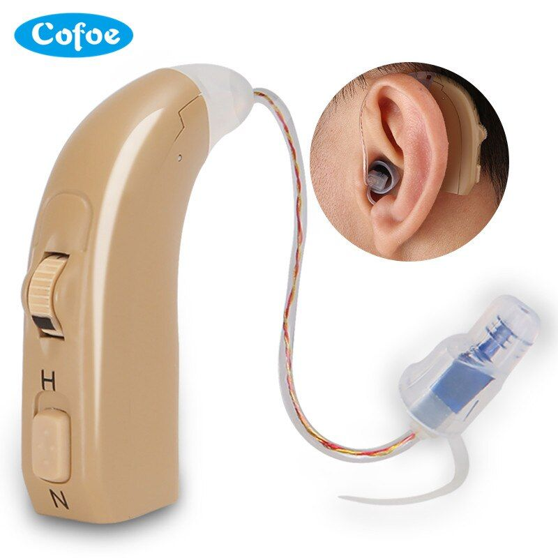 1pcs BTE Hearing Aid USB Charger Adjustable Sound Long Period Using for Hearing Loss Elderly Invisibility Amplified Voice Device