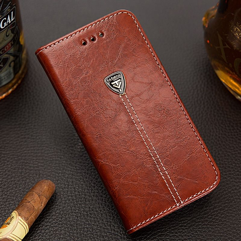 Luxury Leather Case for iphone 7 / 6 / 6s /5s / 5 / 4s / 4 for iphone 7 plus Flip Cover Vintage Style Wallet Phone Case Bag