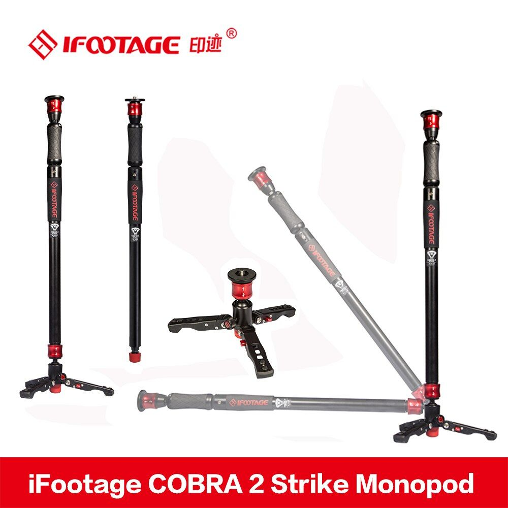 iFootage COBRA 2 Strike camera Monopod 8kg bear Portable DSLR Video Monopod with table tripod leg for Canon Sony Nikon Camera