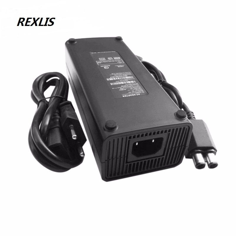Quality EU Plug AC Power Adapter 220V Charge Charging Power Cable Power Cable for microsoft xbox 360 x-360 slim 135 Supply