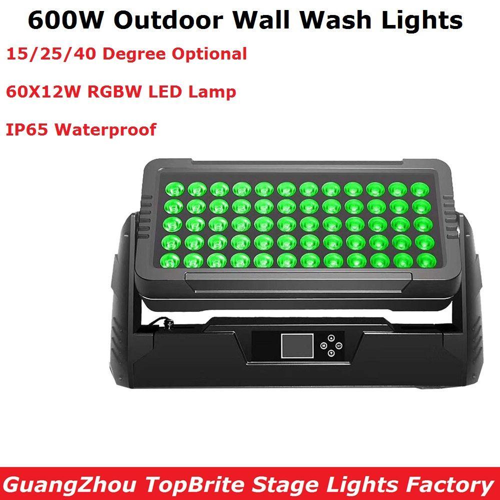Kostenloser Versand 60X12 watt RGBW 4IN1 LED Wand Waschen Lichter DMX Led Bar DMX Linie Bar Waschen Bühne licht IP65 Für Dj Outdoor Unterhaltung