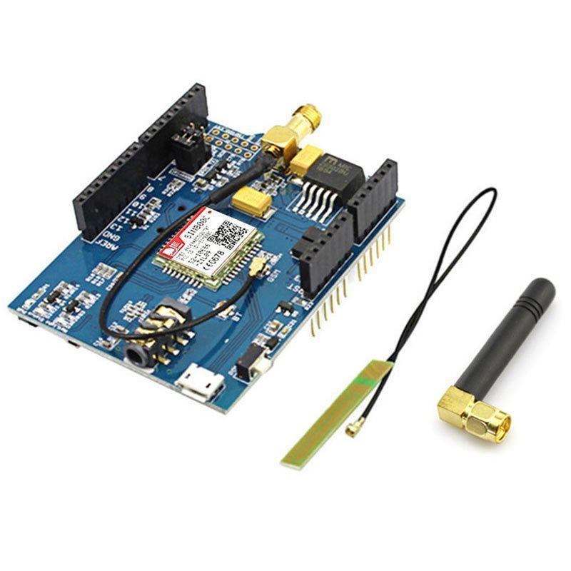 Elecrow GPRS GSM Bouclier pour Arduino SIM800C Module Avec Antenne Testé Monde Large Conseil de Développement Sim900 GSM GPRS DIY Kit