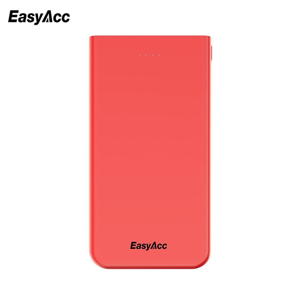 Easyacc Puissance Banque 10000 mah Ultra Mince Chargeur de Batterie Externe De Banque de Puissance Banque De Puissance Pour iPhone 7 6 5 4 xiaomi Mi