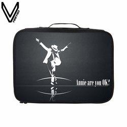 VEEVANV Michael Jackson Style Impression Sacs de Voyage Portable Étanche Grande Capacité Voyage Totes Pour Femmes Hommes Valises Sacs