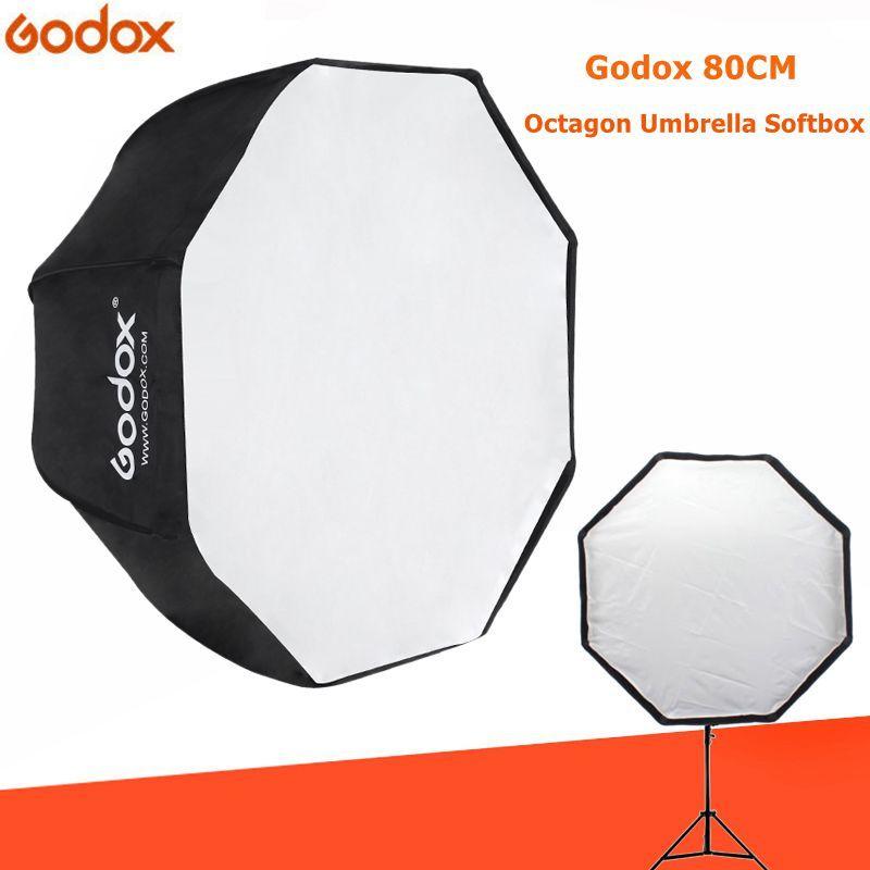 Godox lumière Softbox 80 cm/31.5in diamètre octogone Brolly parapluie accessoires de photographie boîte souple réflecteur pour Studio vidéo