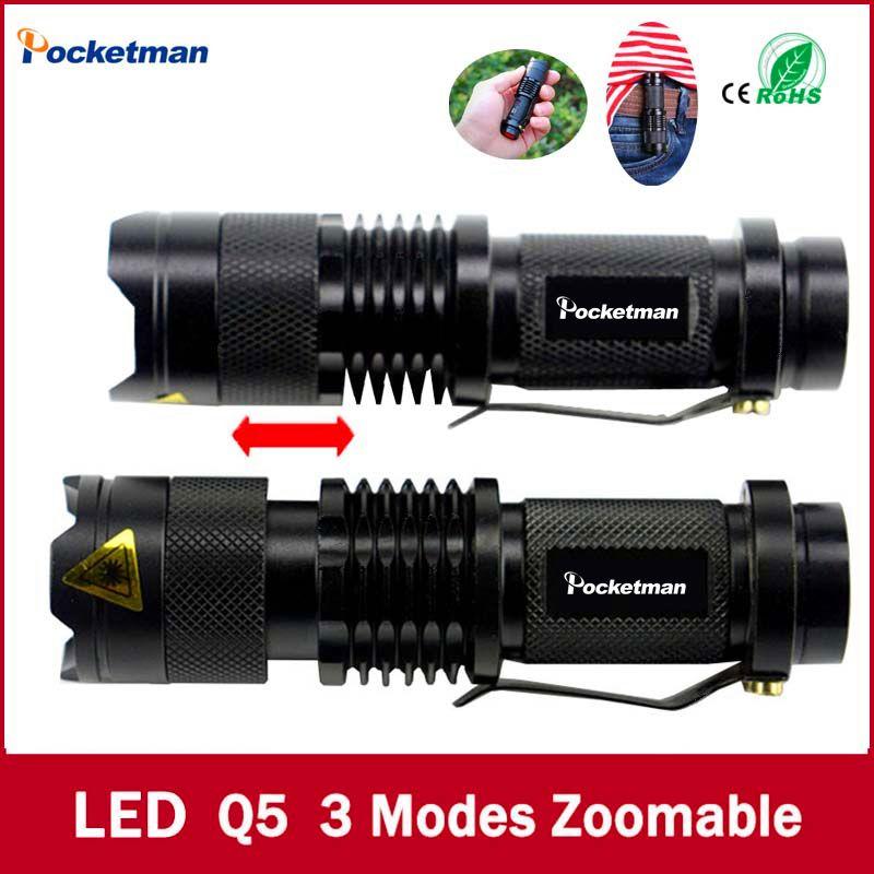 Высококачественный Мини Черный Марка 2000lm Водонепроницаемый светодиодный фонарик 3 режима Масштабируемые светодиодный фонарик пальчиковы...