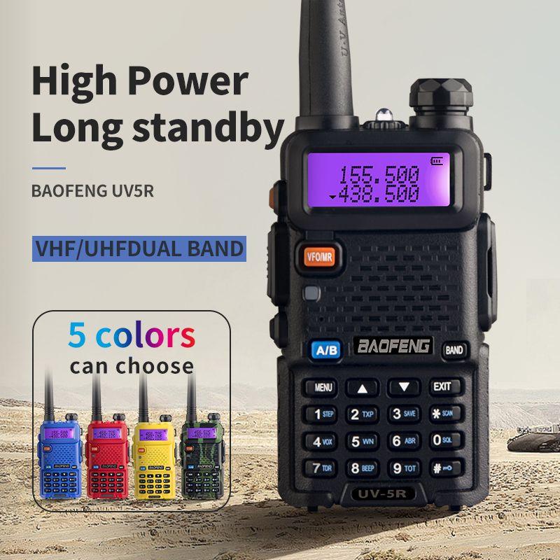 BaoFeng UV-5R talkie-walkie professionnel CB Radio Baofeng UV5R émetteur-récepteur 128CH 5 W VHF et UHF portable UV 5R pour Radio de chasse