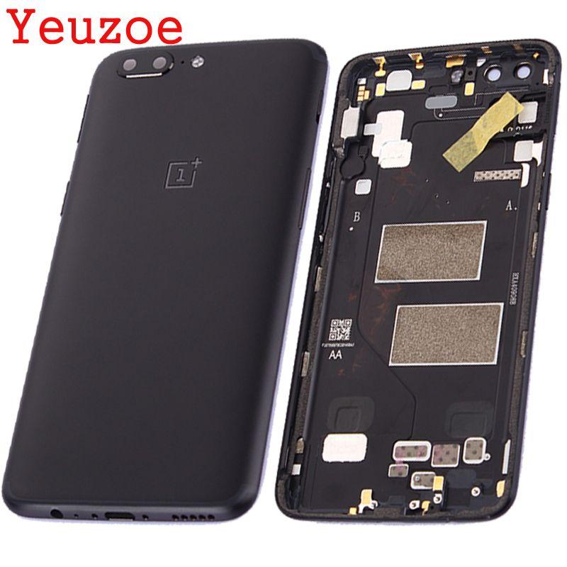 Yeuzoe Batterie Rückseitige Abdeckung Für Oneplus 5 A5000 Gehäuse Fall + Power Lautstärketasten für eins plus 5 batterieabdeckung ersatz