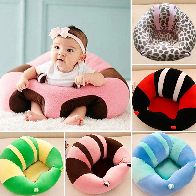 Baby <font><b>Support</b></font> Seat Plush Soft Baby Sofa Infant Learning To Sit Chair Keep Sitting Posture Comfortable For 0-3 Months Baby