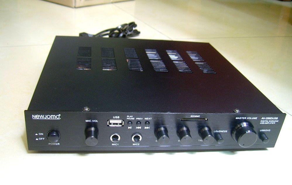 New Jamo AV-299D HiFi 2.0 Digital Home Audio Amplifier Input AUX/USB/SD Power Handle 80W*2 Frequency Response 55Hz-25KHz AC220V