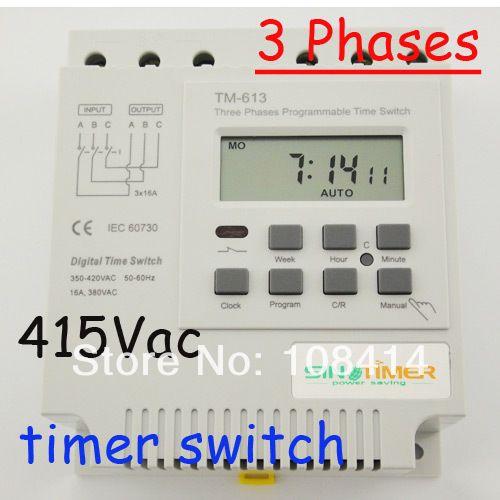 Drei phasen 380 v 415 v TIMER programmierbare Schalter KOSTENLOSER VERSAND