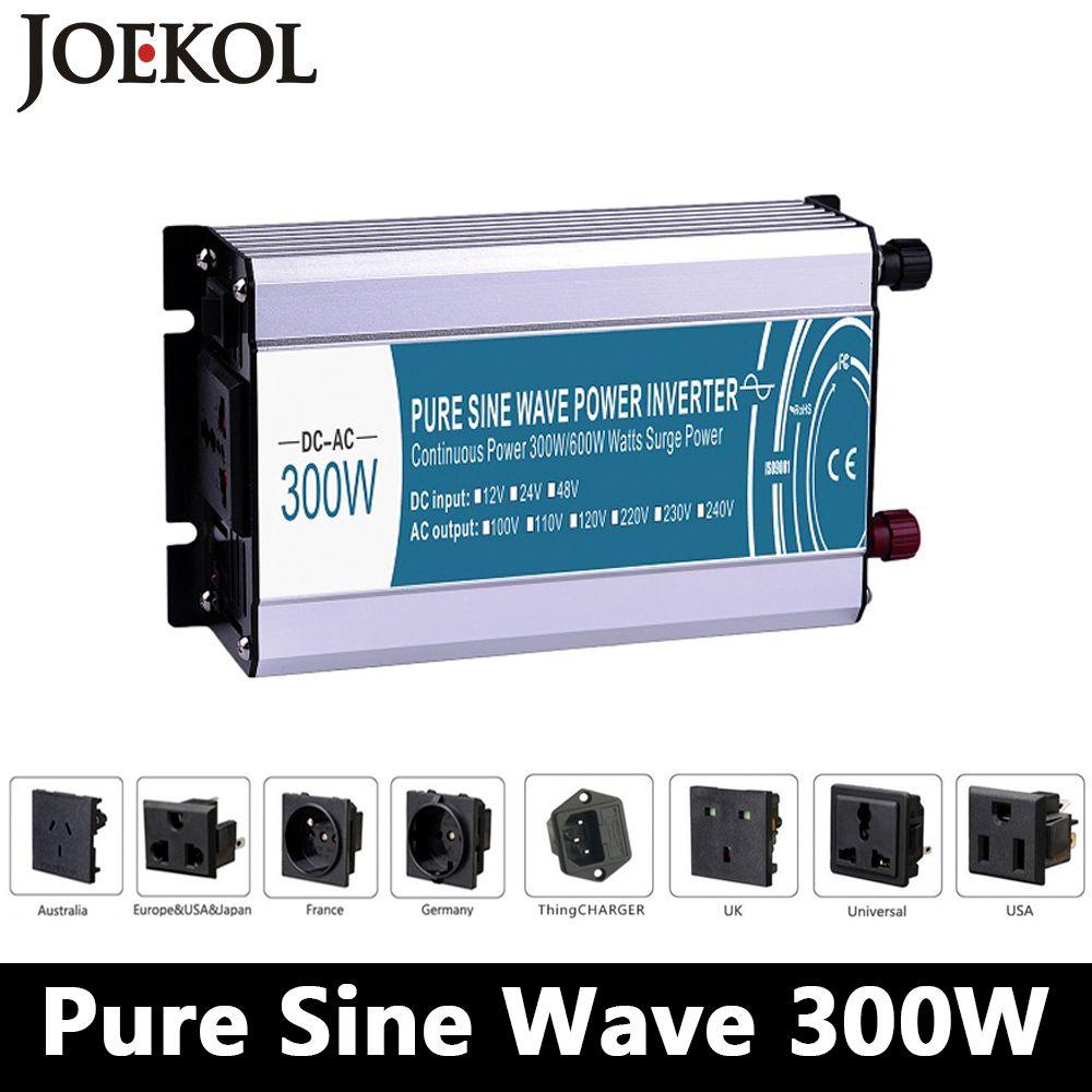 300W/600W pure sine wave inverter DC 12V/24V/48V to AC 110V/220V,off grid inversor,power inverter work with Solar Battery panel