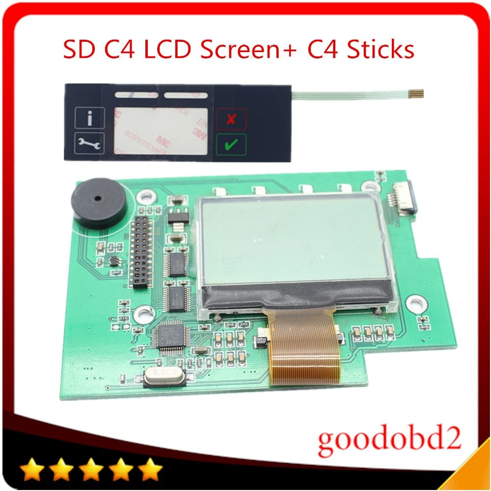 SD Connect C4 Stickers Labels +C4 LCD Screen for MB Star C4 diagnostics tools SD diagnostic tool MBB Compact 4 on the box pretty