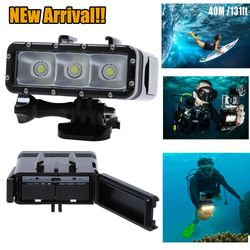 NEWEST Go Pro Accessories Underwater Waterproof Diving LED Light Spot Lamp for GoPro Hero 4 3plus 3 Camera SJ4000 SJCAM