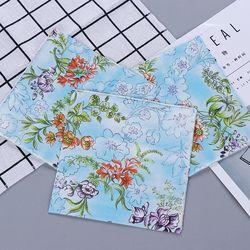 Fresh Blue Design Flowers Painting Paper Napkins Cafe & Party Tissue Napkins Decoupage Decoration Paper 33cm*33cm 20pcs/pack/lot