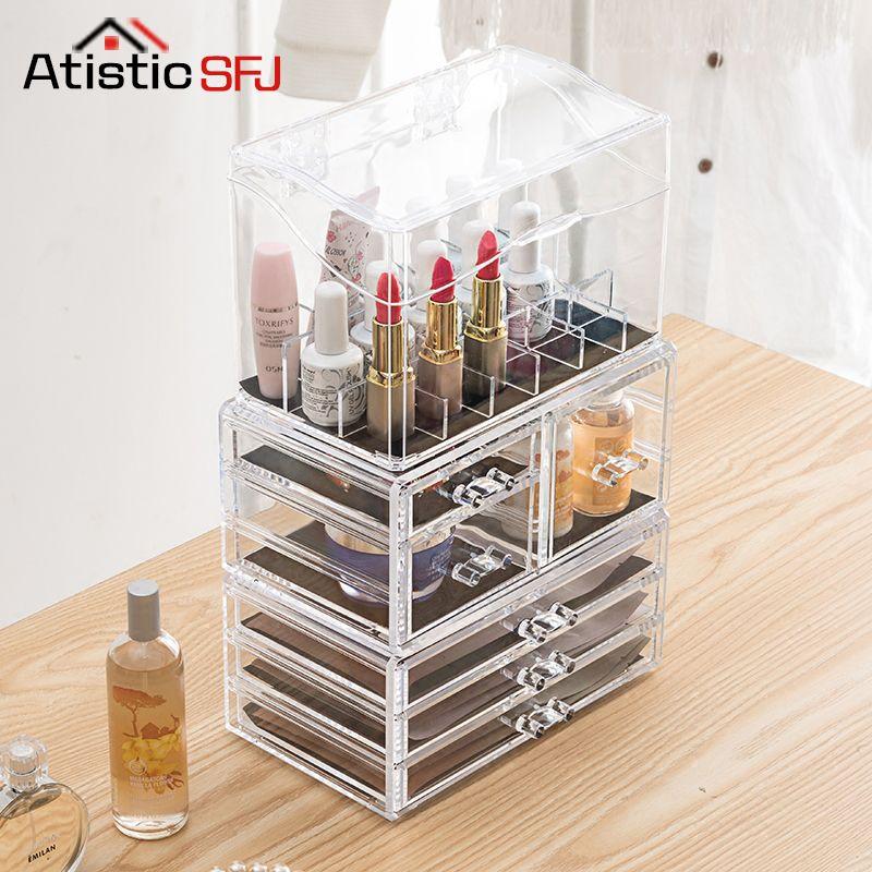 Atistic SFJ Makeup Organizer Storage Box Acrylic Make Up Organizer Cosmetic Organizer Makeup Storage Drawers Organizer