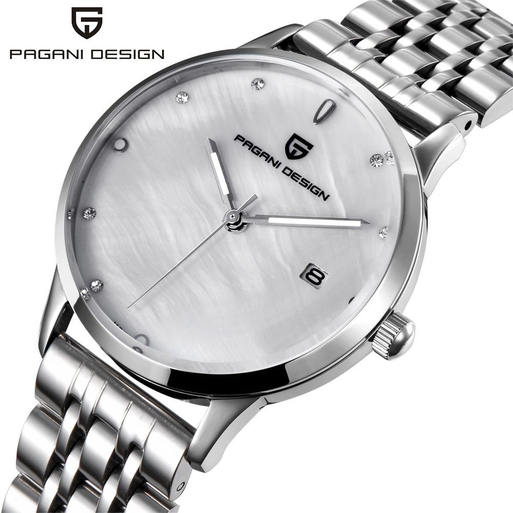 Damen Mode Uhr PAGANI DESIGN luxus marke temperament Frauen quarzuhr alle stahl casual romantische Uhr Montre Femme