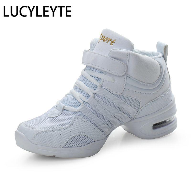 2019 sport caractéristique semelle extérieure souple respiration chaussures de danse baskets pour femme chaussures de pratique moderne danse Jazz chaussures Discount chaussure haute