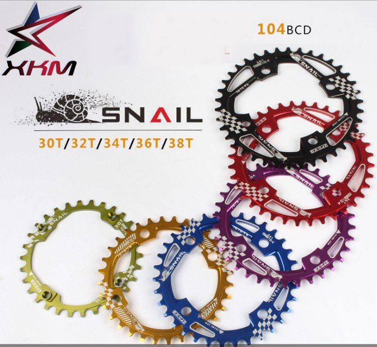 SNAIL Positive and negative tooth single plate mountain bike disc oval disk MTB bicycle crank sprocket 30 32T 34 36 38T