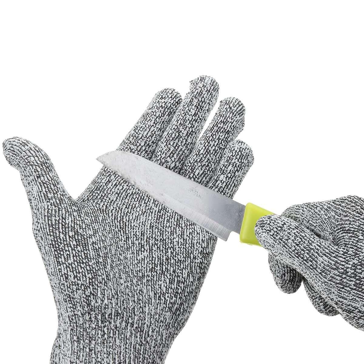 NEUE Safurance Anti-Schneiden Schnittfeste Handschuhe Lebensmittelqualität Küche Metzger Schutz 5 Arbeitssicherheit