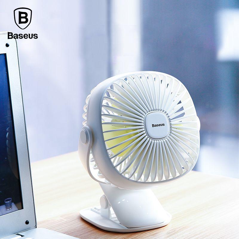 Baseus Mini USB Rechargeable Air Cooling Fan <font><b>Clip</b></font> Desk Fan Dual Use Home Student Dormitory Bedside Portable Desktop Office Fan