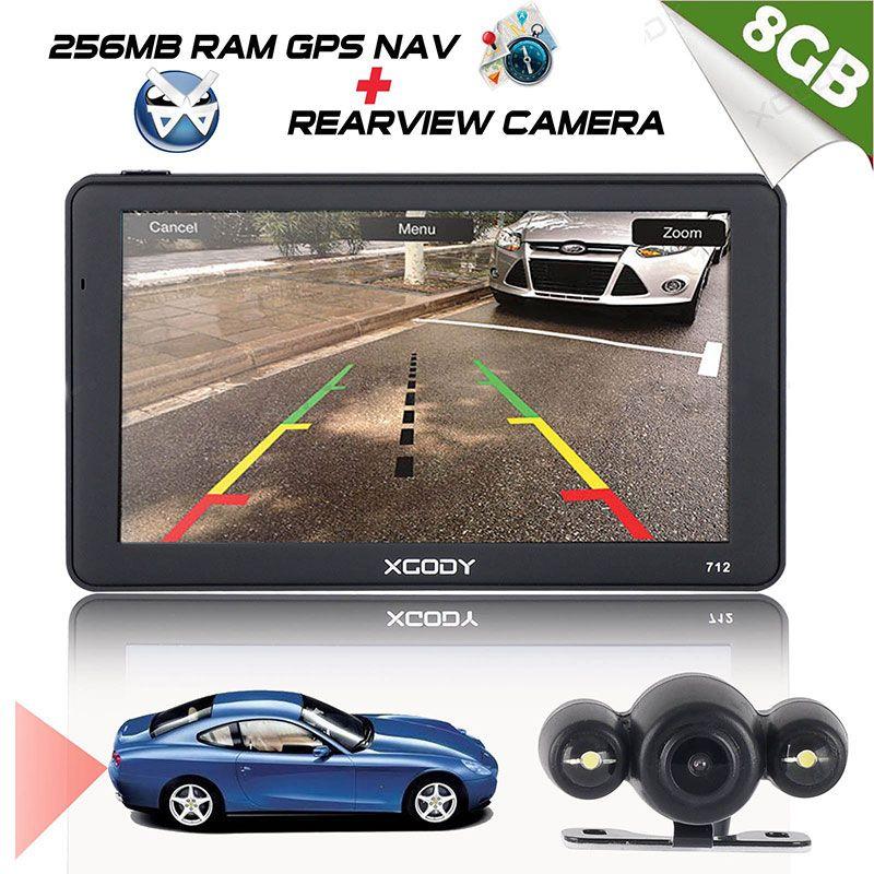 Xgody 712 Car Navigator Gps Truck Navigation Europe 7 Inch Car Gps Navigator Bluetooth Rear View Camera Russia Navitel Maps