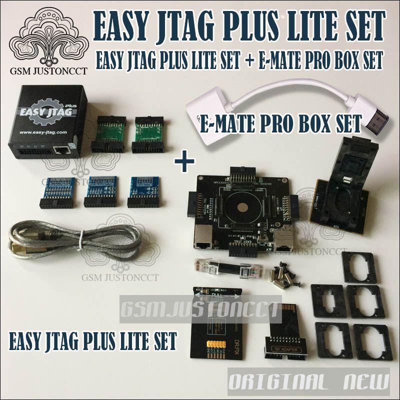 2018 Newest EASY JTAG PLUS LITE SET Easy Jtag plus Box + New E-mate Box Emate Pro Box E-Socket EMMC TOOL all in 1