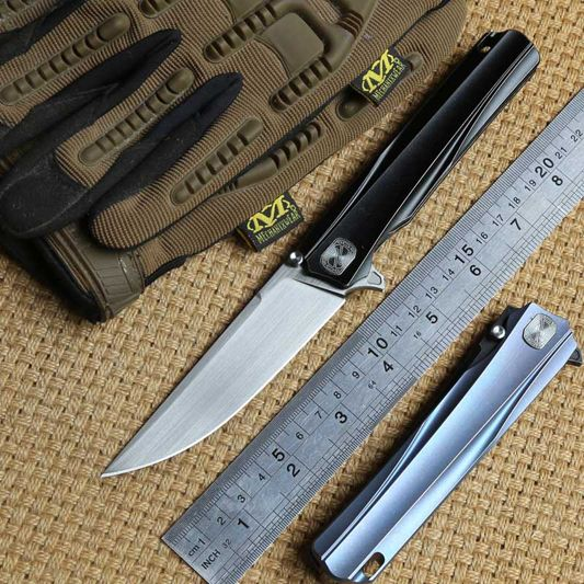 STEDEMON SHY Solid titanium handle CTS-204P blade Flipper brearing folding knife camping hunt knives outdoor Survival EDC tool