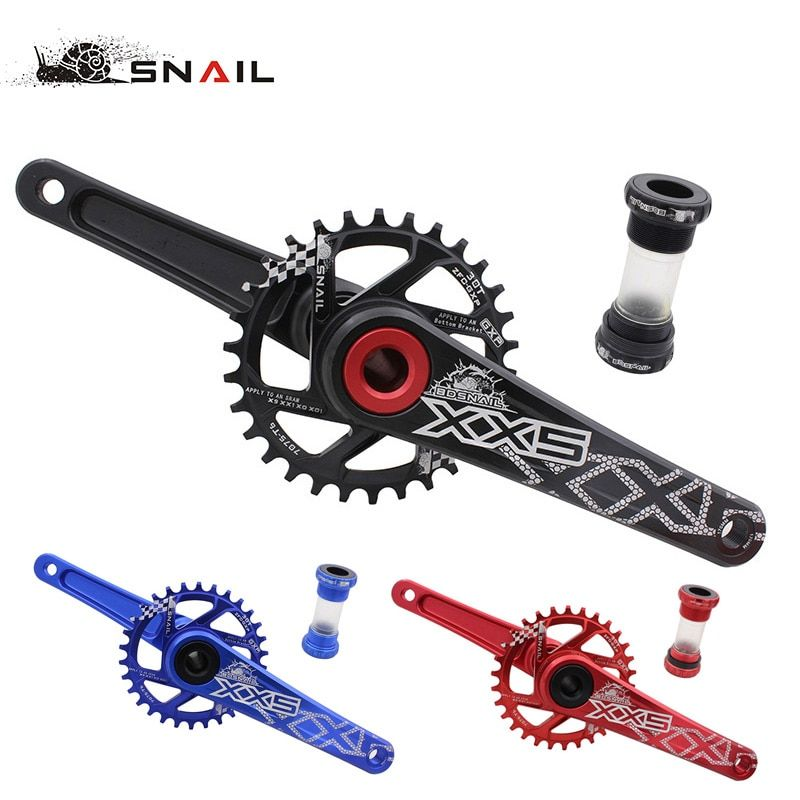 SNAIL Bike Bicycle Suit Sets Crankset crank Chainwheel 30T 32T 34T 7075 CNC Narrow Wide Chainring For Sram GXP XX1 X9 XO X01 AL
