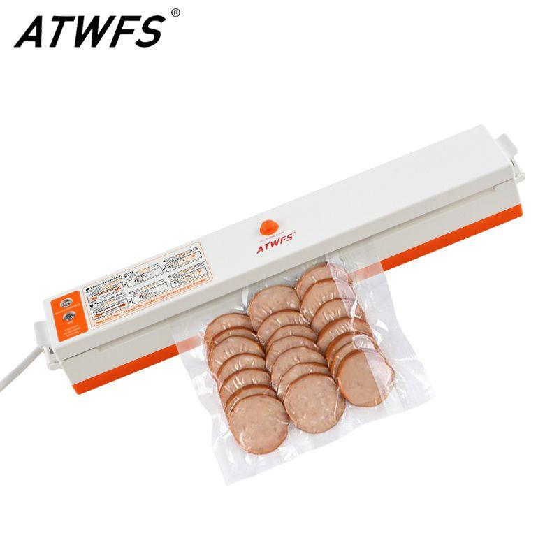 ATWFS Vide Scellant Emballage Ménage Film Scellant Vide Packer D'étanchéité Machine pour La Nourriture Y Compris 15 pcs Sacs