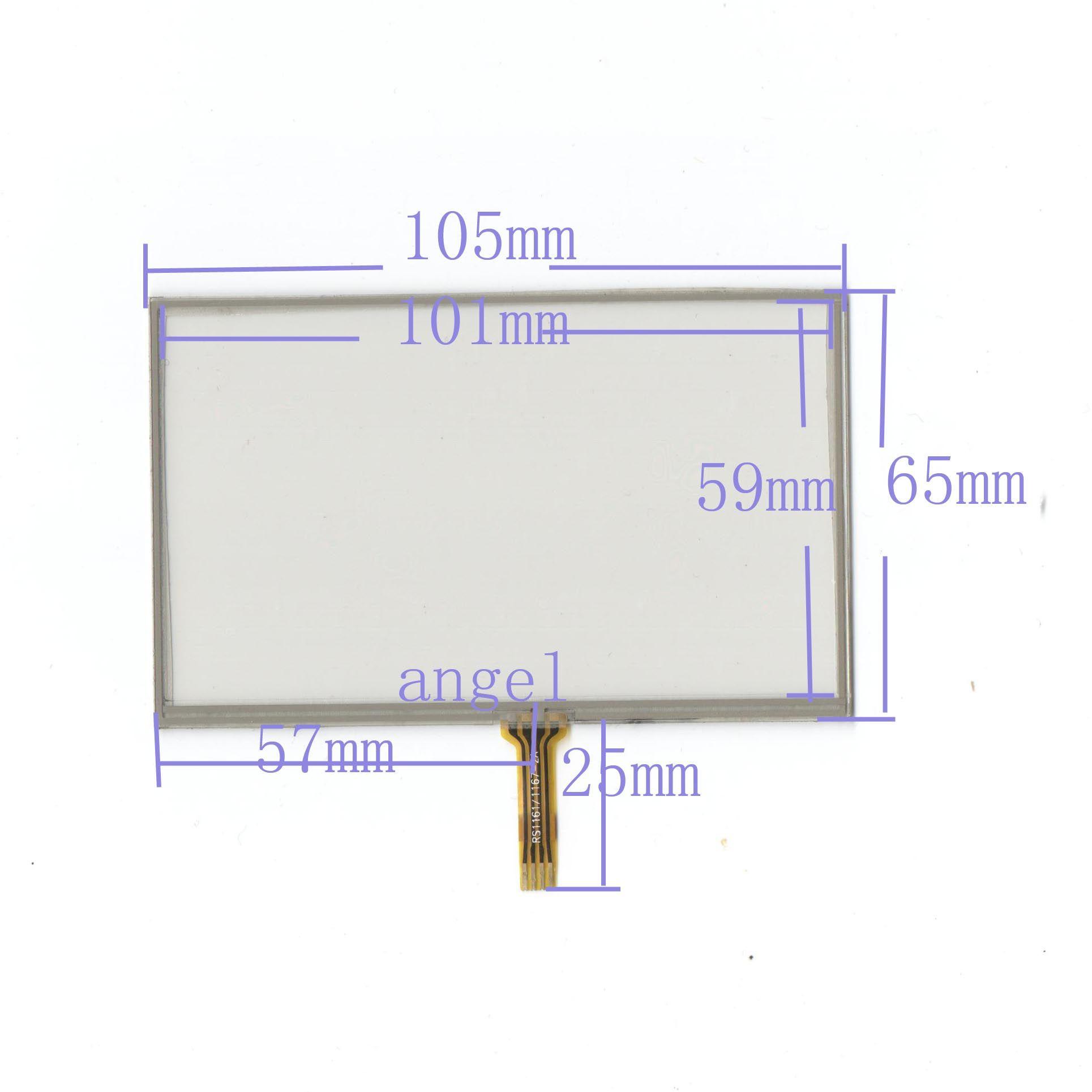 4,3 Zoll 4 Draht Universal LCD Touchscreen Auto GPS 105mm * 65mm Für 721Q310B63-A2 HSD043I9W2-A10-R00