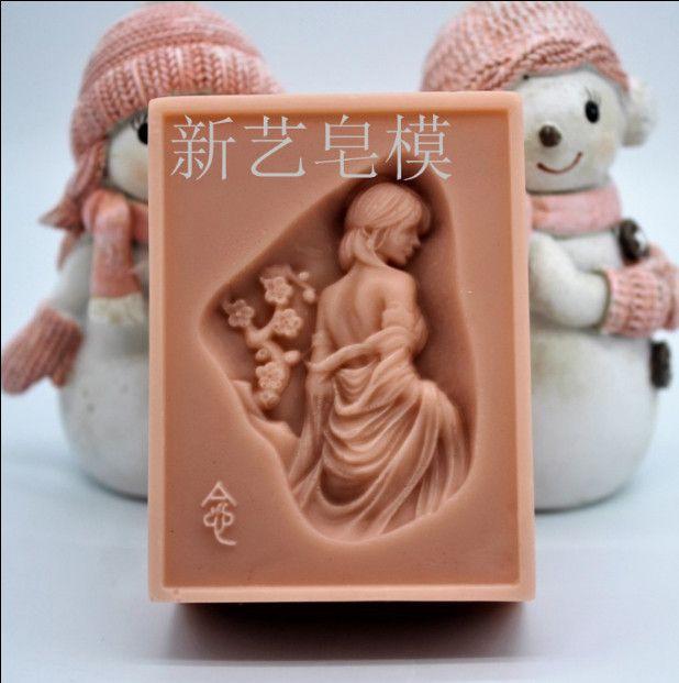 Новые женские Дизайн 3D Формы для мыла ручной работы силиконовые формы для Изготовление мыла