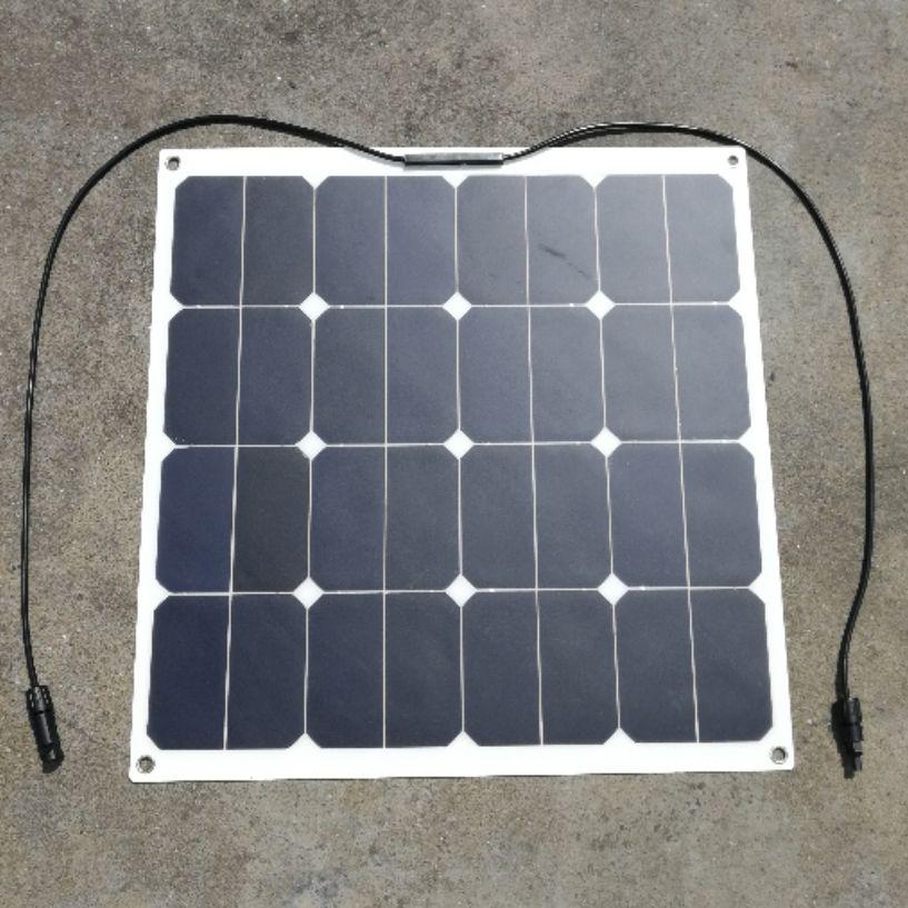 Sunpower 18V 50W Flexible Solar Panel Solar Modules for Fishing Boat Car RV 12V Battery 50W Solar Charger Factory P