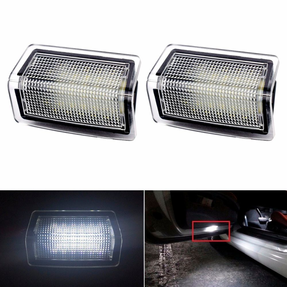 2x LED Car Step Courtesy Door Light Welcome Lamp Projector Logo For Mercedes Benz W212 W166 W176 W204 W167 A B C E M ML GL Class