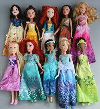 Рапунцель Куклы Принцесса Жасмин кукла Белоснежка Ариэль Belle Рапунцель Игрушечные лошадки для Обувь для девочек Brinquedos Игрушечные лошадки ...
