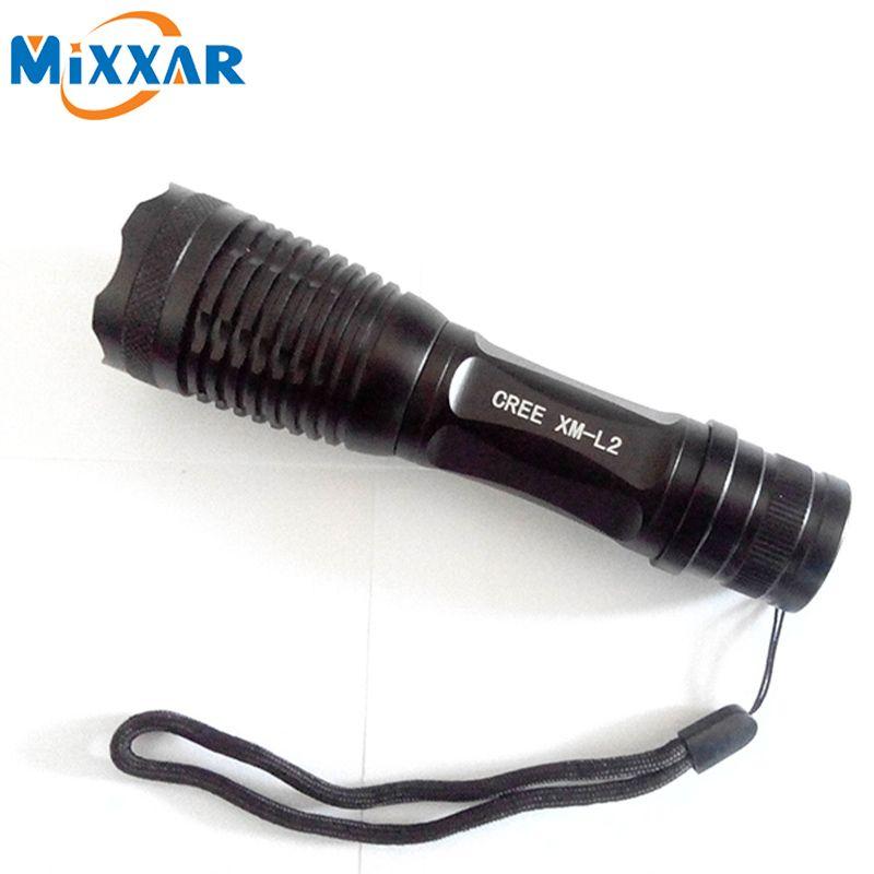 C-10 CREE XM-L2 9500LM lumens LED Flashlight Zoomables T6 LED torche lanterne Super Lumineux Étanche Portable lampe de poche Lampe