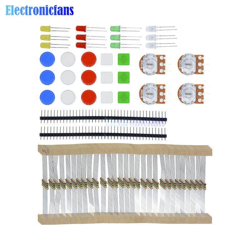 Elektronische Teile Pack KIT Für ARDUINO Komponente Widerstände Schalter Taste