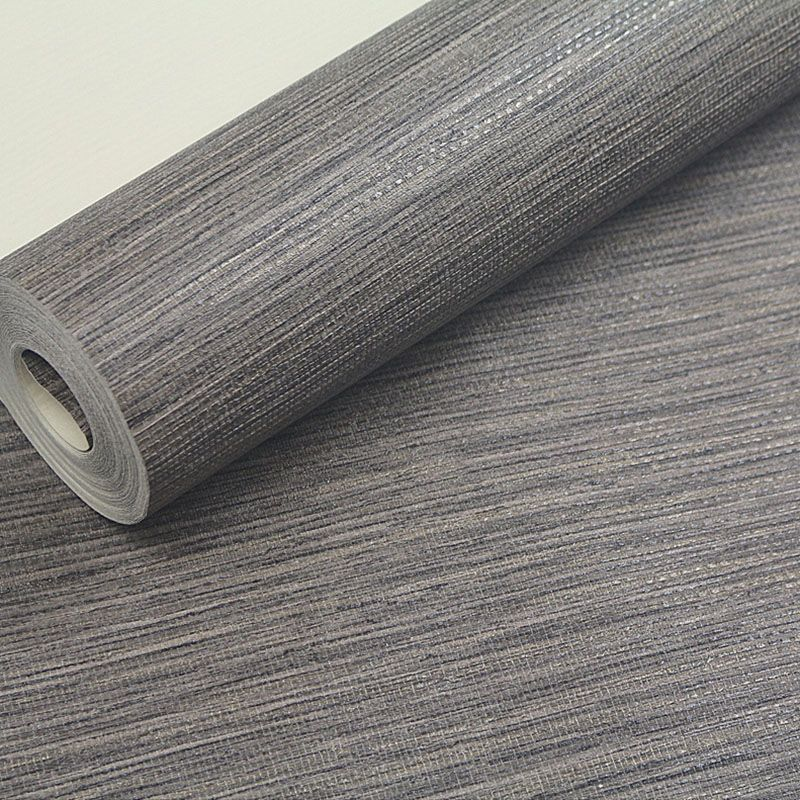 PVC Solid Color Embossed Textured Wall Paper Modern Dark Grey Living Room Sofa TV Background Wallpaper Roll Desktop Wall Papers