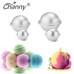 6 шт./упак. шарики для ванны из металлического алюминиевого сплава Форма для бомбочек для ванн 3D шаровая Сферическая форма DIY аксессуары для ...