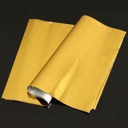 Kicute 50 Feuilles A4 Or Estampage À Chaud Feuille Papier Plastifieuse Stratification Transfert Laser Imprimante Carte De Visite Calendrier 295x195mm