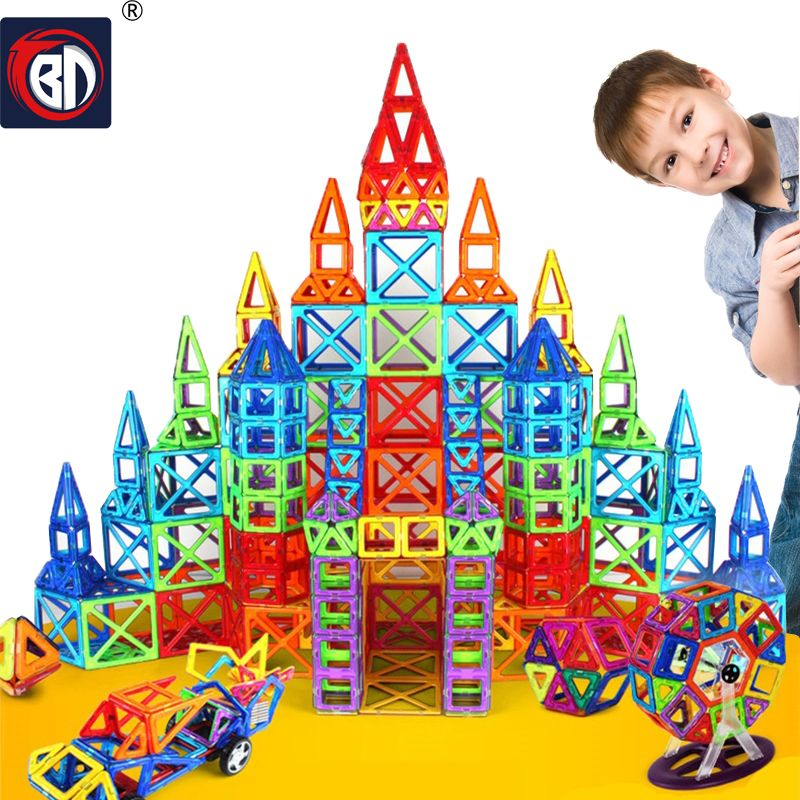 BD 214pcs Mini Magnetic Designer Construction Set Model Building Toy Magnetic Blocks Educational Toys For Kids Christmas Gift
