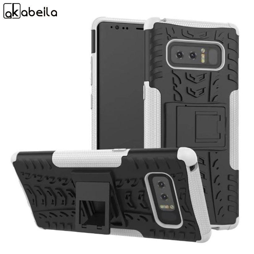 AKABEILA Militärischen Rüstung Kickstand Telefonkasten Für Samsung Galaxy Note 8 Note8 N950F N950FD Abdeckung Shell Coque Fundas Gehäuse