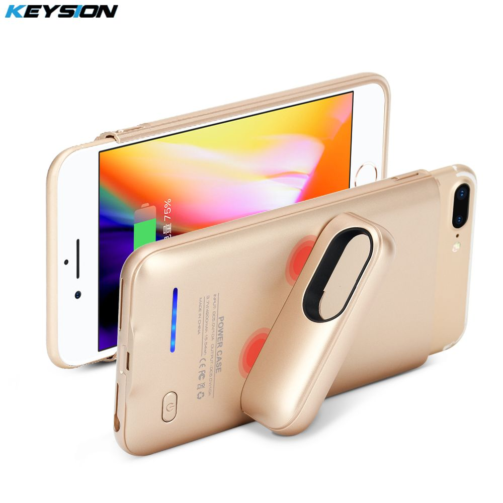 KEYSION Portable Charging Case For iphone 8 7 6 6s Plus 3000/4200mAh Battery Power Bank Battery Charger Case Cover for i8 7P 6P