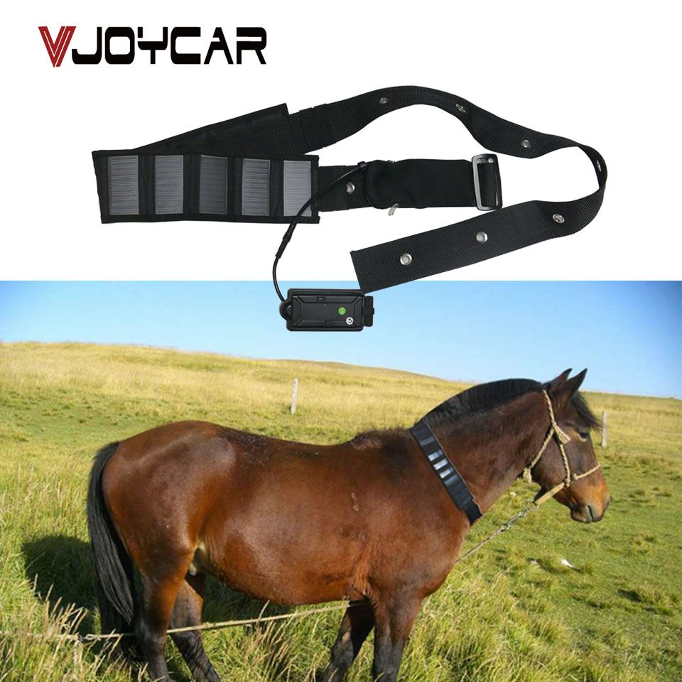 VJOYCAR Solar GPS Tracker Collar Waterproof Real Time gps Locator For Large Pet leather GSM GPS Cow Rastreador Tracking Software