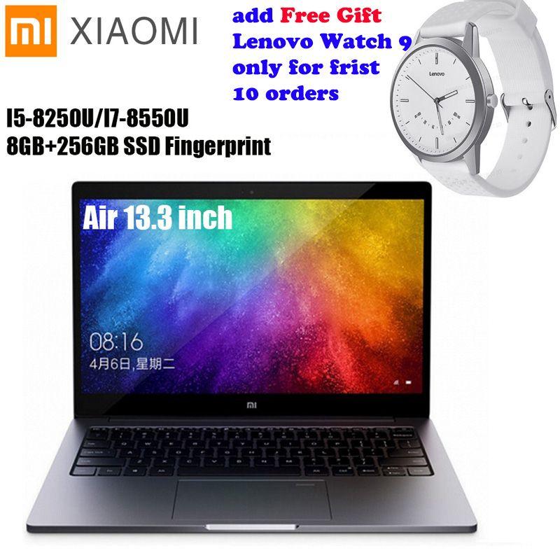 Xiao mi mi Notebook Air 13,3 Windows 10 Intel Core I5/I7 Quad Core 8 GB + 256 GB SSD fingerprint Dual WiFi Ultrabook Ga mi ng Laptop